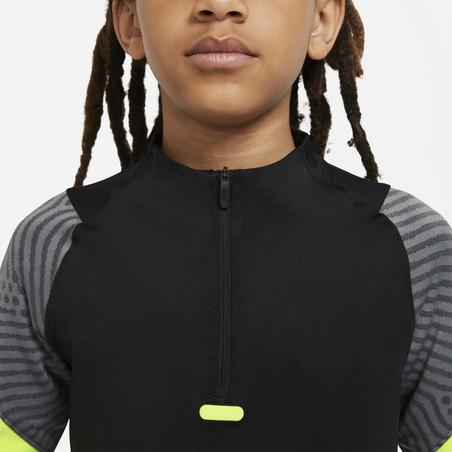Sweat zippé junior Nike Strike noir jaune