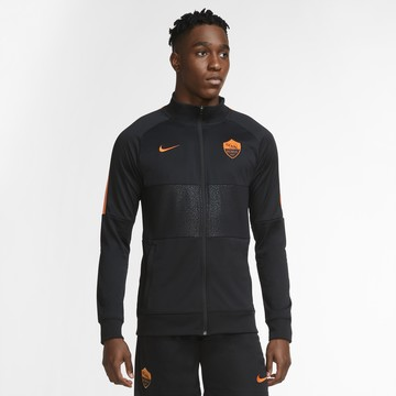 Veste survêtement AS Roma Anthem I96 noir orange 2020/21
