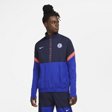 Sweat zippé Chelsea microfibre bleu orange 2020/21