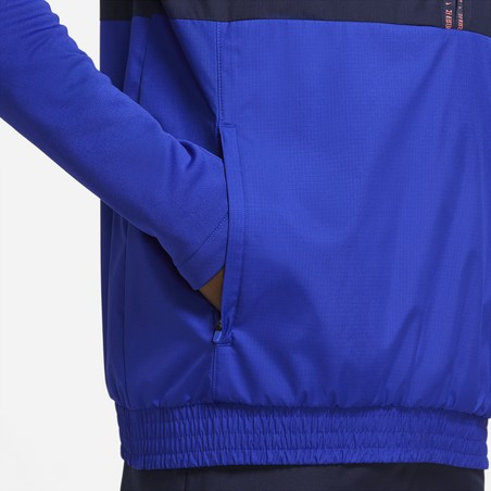 Sweat zippé Chelsea microfibre bleu orange 2020/21