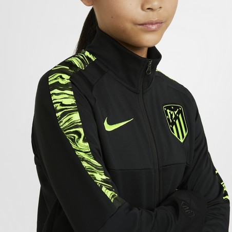 Veste survêtement junior Atlético Madrid Anthem noir jaune 2020/21