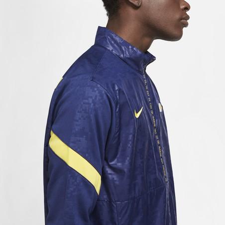 Sweat zippé Tottenham microfibre bleu jaune 2020/21