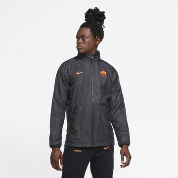 Veste imperméable AS Roma noir 2020/21