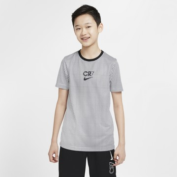 Maillot entraînement junior Nike CR7 noir blanc