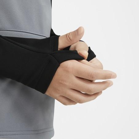 Sweat zippé à capuche junior Nike Academy gris noir