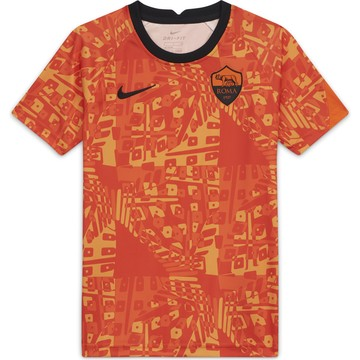 Maillot avant match junior AS Roma orange 2020/21