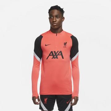 Sweat zippé Liverpool rouge noir 2020/21