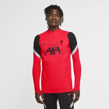 Sweat zippé Liverpool VaporKnit rouge noir 2020/21