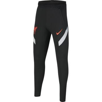Pantalon survêtement junior Liverpool Strike noir rouge 2020/21