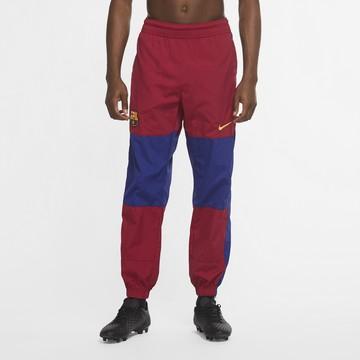 Pantalon survêtement FC Barcelone microfibre rouge bleu 2020/21
