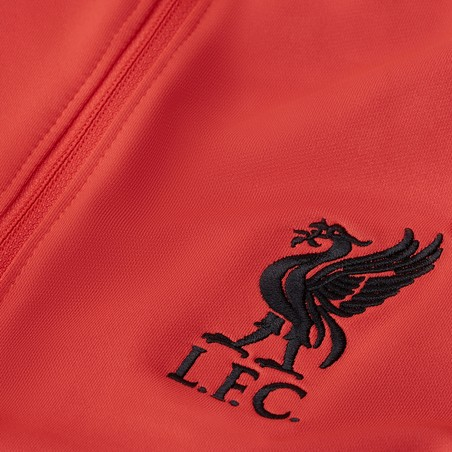 Sweat zippé junior Liverpool rouge noir 2020/21