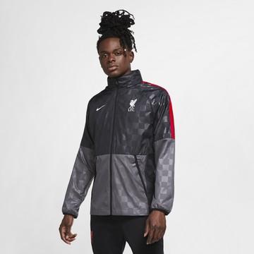 Veste imperméable Liverpool gris noir 2020/21