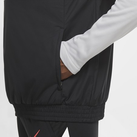 Sweat zippé Liverpool microfibre gris noir 2020/21