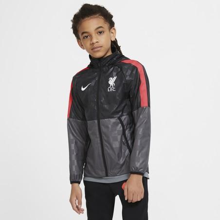 Veste imperméable junior Liverpool gris rouge 2020/21