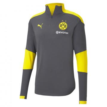 Sweat zippé Dortmund gris jaune 2020/21