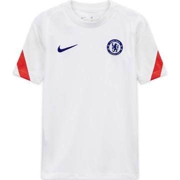 Maillot entraînement junior Chelsea blanc rouge 2020/21