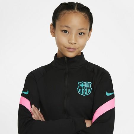 Ensemble survêtement junior FC Barcelone noir rose 2020/21