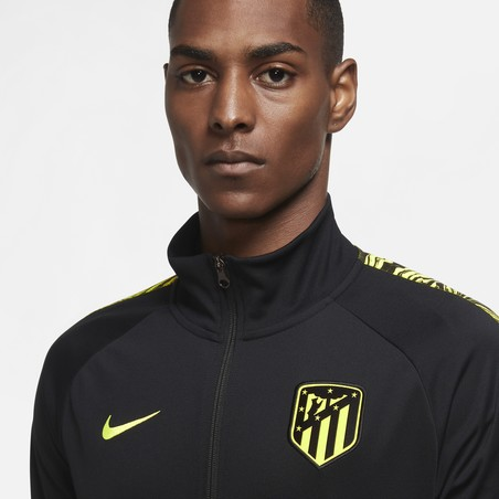 Veste survêtement Atlético Madrid I96 Anthem noir jaune 2020/21