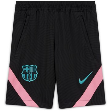 Short entraînement junior FC Barcelone noir rose 2020/21
