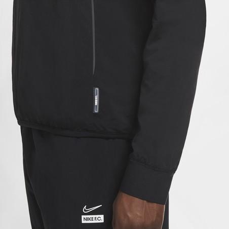 Sweat zippé Nike F.C. micro fibre noir