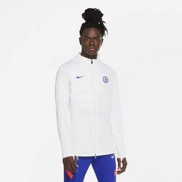 Veste survêtement Chelsea ThermaPad blanc bleu 2020/21