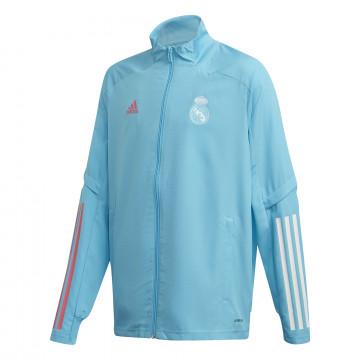 Veste entraînement junior Real Madrid bleu clair 2020/21