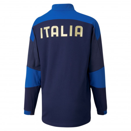 Sweat zippé junior Italie bleu 2020