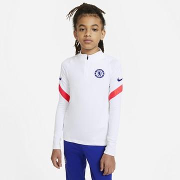 Sweat zippé junior Chelsea blanc rouge 2020/21