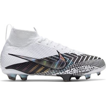 Nike Mercurial Superfly VII junior Elite FG blanc noir