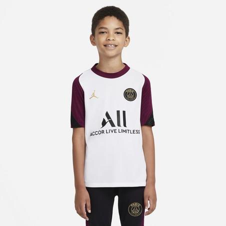 Maillot entraînement junior PSG blanc violet 2020/21