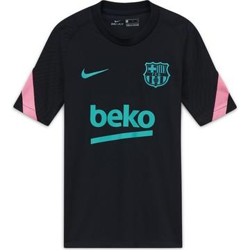 Maillot entraînement junior FC Barcelone noir rose 2020/21