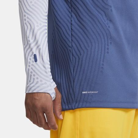 Sweat zippé Tottenham VaporKnit bleu jaune 2020/21