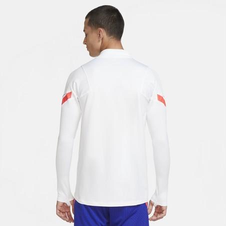 Sweat zippé Chelsea blanc orange 2020/21