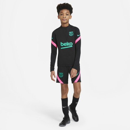 Sweat zippé junior FC Barcelone noir rose 2020/21