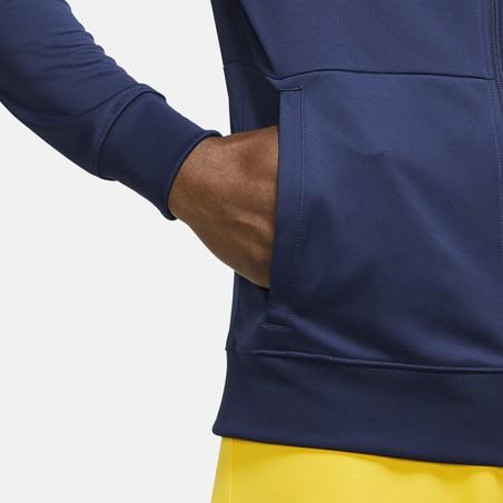 Veste survêtement Tottenham Anthem bleu jaune 2020/21