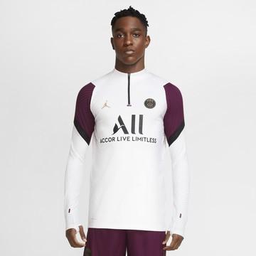 Sweat zippé PSG VaporKnit blanc violet 2020/21