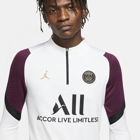Sweat zippé PSG blanc violet 2020/21