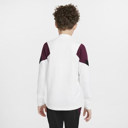 Sweat zippé junior PSG blanc violet 2020/21