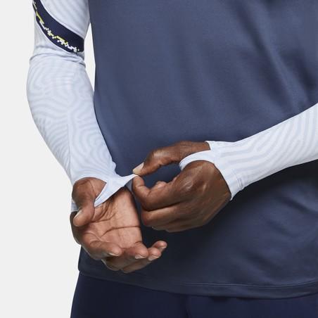 Sweat zippé Tottenham bleu jaune 2020/21