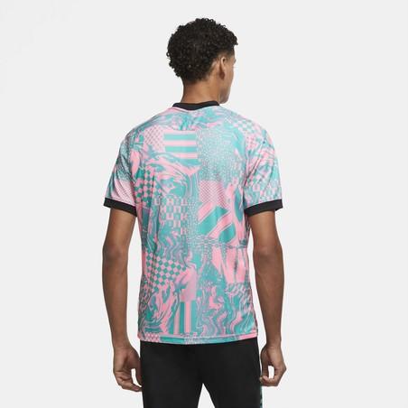Maillot entraînement Nike F.C. vert rose
