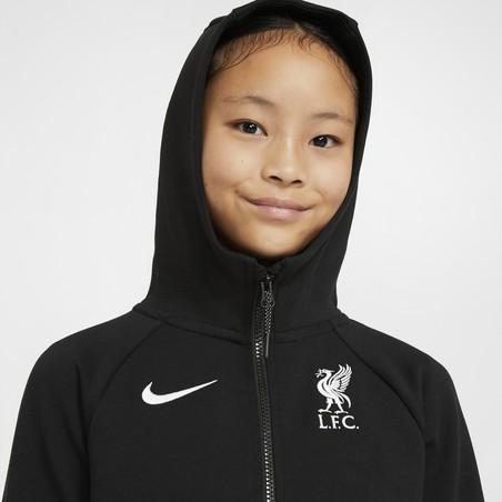 Veste survêtement junior Liverpool TechFleece noir 2020/21