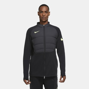 Veste survêtement Nike Therma Strike noir jaune