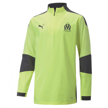 Sweat zippé junior OM jaune noir 2020/21