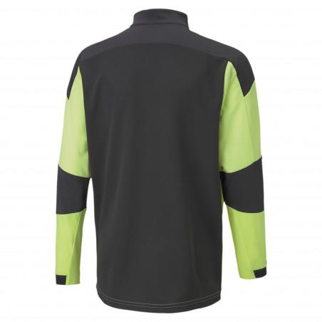 Sweat zippé junior OM jaune noir 2020/21