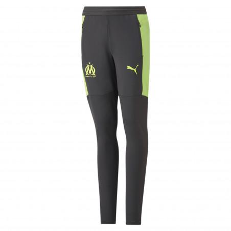 Pantalon survêtement junior OM noir jaune 2020/21
