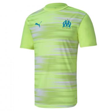 Maillot avant match OM jaune 2020/21