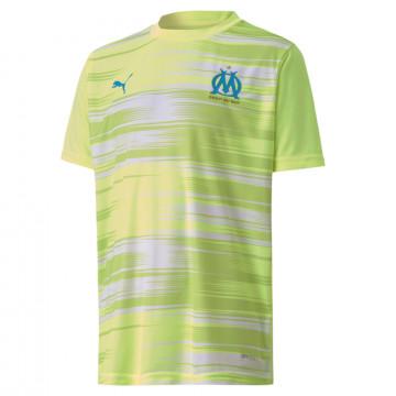 Maillot avant match junior OM jaune 2020/21