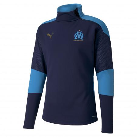 Sweat zippé OM Fleece bleu 2020/21