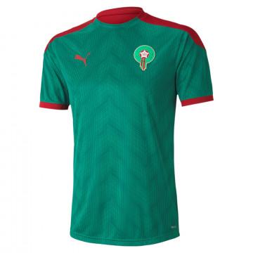 Maillot avant match Maroc vert rouge 2020
