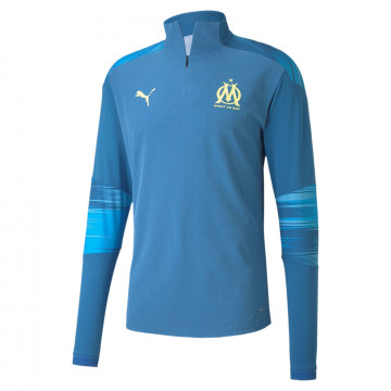 Sweat zippé OM bleu jaune 2020/21